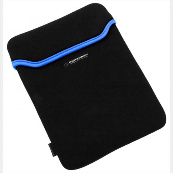 ESPERANZA Sleeve for Tablet 7 '' ET171B | Black / Blue | Neopren 3mm planšetdatora soma