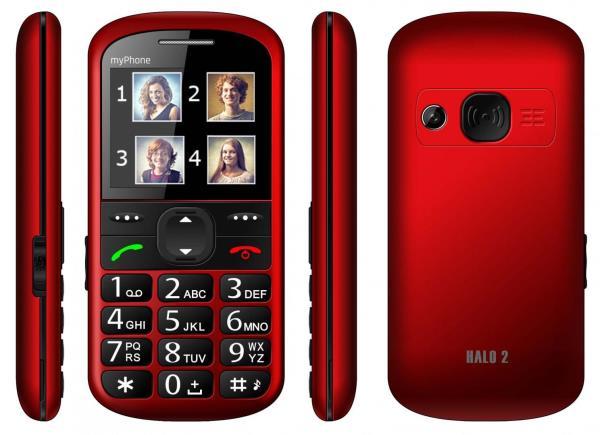 MyPhone HALO 2 red Mobilais Telefons