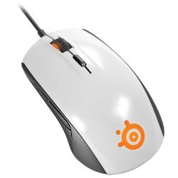 Gaming mouse SteelSeries Rival 100, white Datora pele