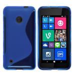 Telone Back Case S-Case gumijots telefona apvalks Nokia 530 Lumia Zils aksesuārs mobilajiem telefoniem