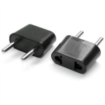Power adapter USA to EURO (black) kabelis