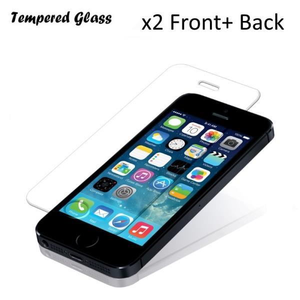 Tempered Glass Extreeme Shock Aizsargplēve-stikls Apple iPhone 5 5S Priekša+ Aizmugure 2gab. (EU Blister) aizsargplēve ekrānam mobilajiem telefoniem