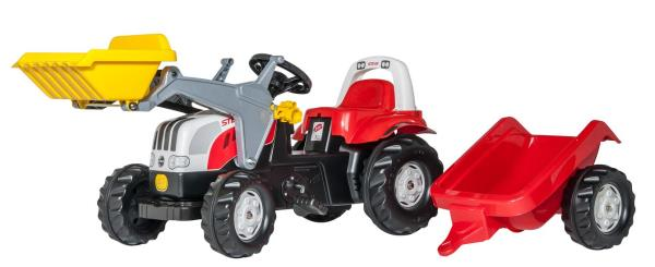 Traktors ar pedāļiem rollyKid Steyr 6165 CVT (2.5-5g.)