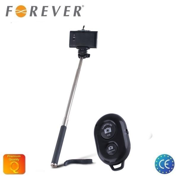 Forever MP-200 Bluetooth Selfie Stick 95cm - Universāla stiprinājuma statīvs ar atsevišķu Pulti