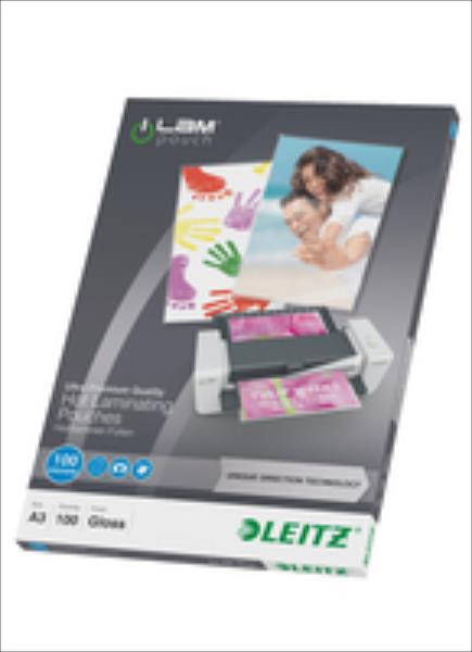 Leitz  Lamination pouch A3 UDT 100mic Leitz. Box of 100 pouches