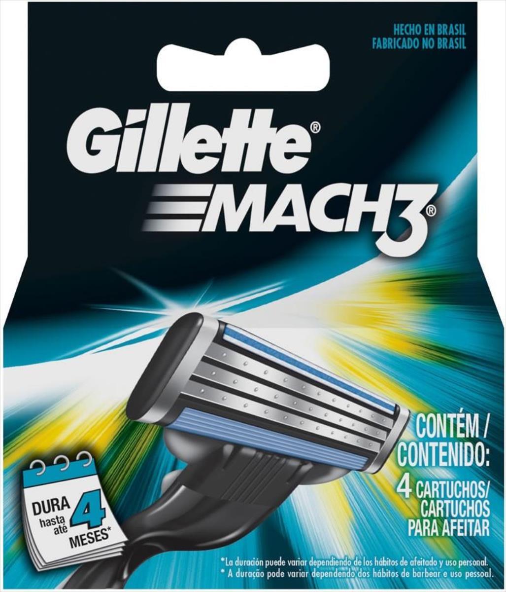 GILLETTE MACH3(4) (Razor Blades) Vīriešu skuveklis