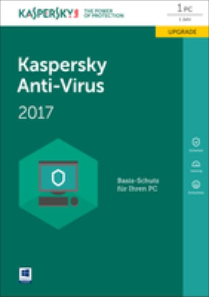 Kaspersky Anti-Virus 2017 Upgrade (Code in a Box) FFP