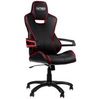 Nitro Concepts E200 Race fotel gamingowy - Black-Red datorkrēsls, spēļukrēsls