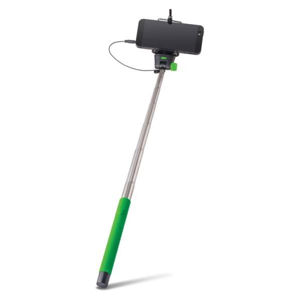Forever MP-400 Bluetooth Selfie Stick 100cm - Universāla stiprinājuma statīvs ar iebūvētu Pulti Zaļš