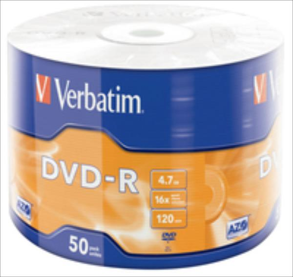 DVD-R 16x 4.7GB 50P SP   Matt Silver Wrap 43788 matricas