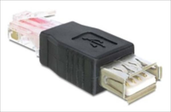 Delock USB na RJ45 (F/M) Black (65234)