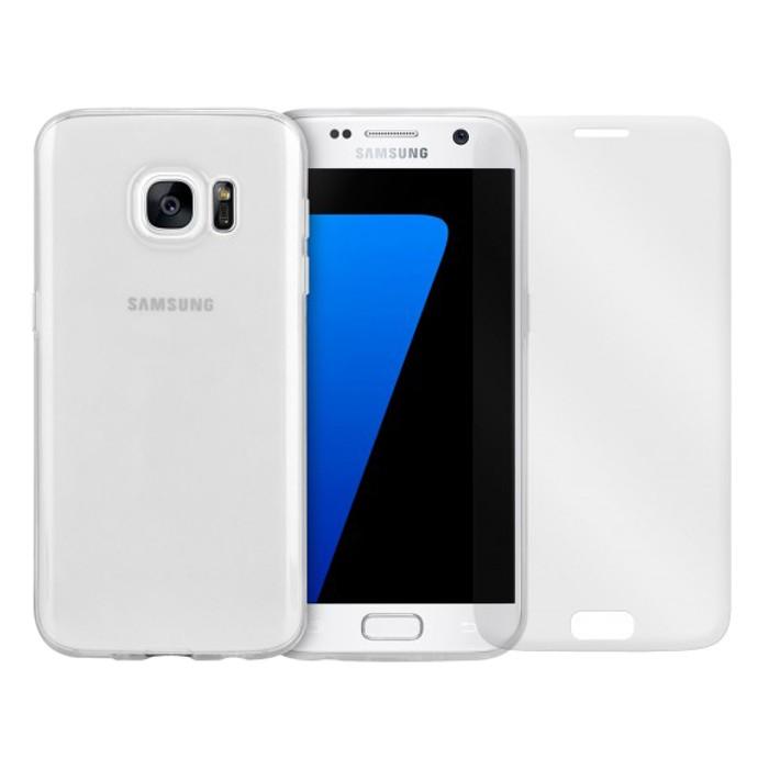 Moxie Pack Full Protect Galaxy S7 TPU+Glass maciņš, apvalks mobilajam telefonam