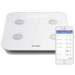 iHealth Wireless Body Analysis Scale Scale for iOS and Android/ WiFi/ Weight/ Body fat/ BMI Mass Index/ Body Water/ Lean Mass/ Visceral Fat Svari