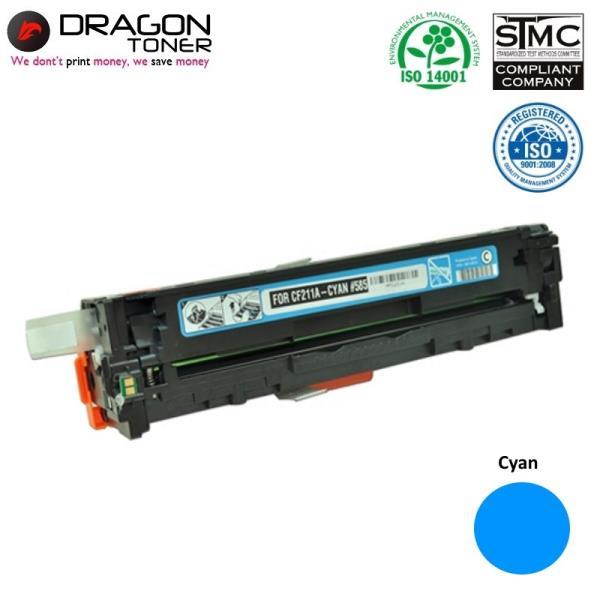 Dragon HP 131A CF211A Cyan  / Canon CRG-731C Zila Lāzedrukas kasete M251nw 1.6K Pages HQ Premium Analogs aksesuārs mobilajiem telefoniem