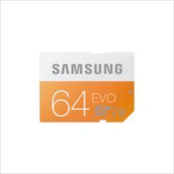 SAMSUNG 64GB, SDXC DIGITAL CARD EVO, CLASS 10, Up to 48MB/S atmiņas karte