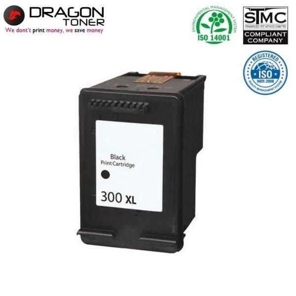 Dragon HP 300 XL CC641EE Melns Tintes Kārtridžs 21ml priekš DeskJet F2480 D2560 uc HQ Premium Analogs aksesuārs mobilajiem telefoniem