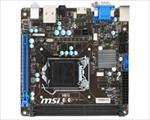 MSI H81I Intel LGA1150 mITX DDR3 MB pamatplate, mātesplate