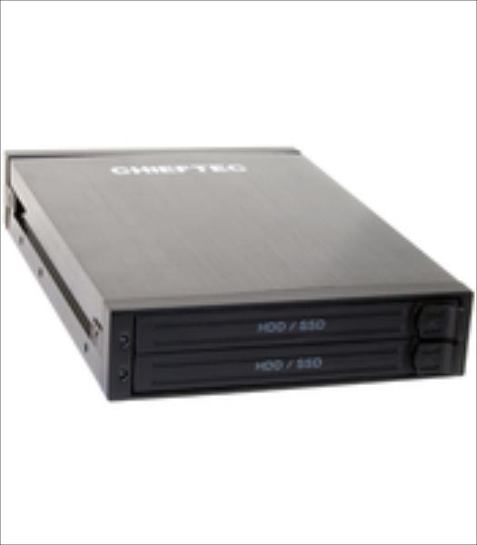 Chieftec ATM-1322S 1x3.5inch bay for 2x2.5inch SATA HDD, Hot-Swap, Aluminium Ārējais cietais disks