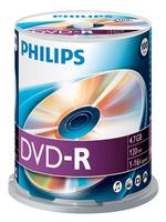DVD-R Philips 4,7GB 100pcs spindel 16x matricas
