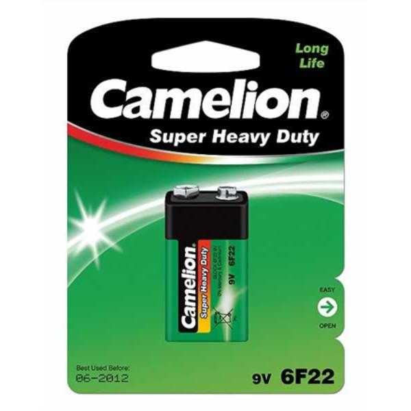 Camelion Super Heavy Duty 9V Block (6F22), Green, 1 pcs Baterija
