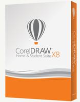 CorelDRAW Home & Student Suite X8 EN 3 User (pro Haushalt) Win Englisch Minibox DVD programmatūra