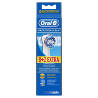 Braun Oral-B Toothbrush heads Precision Clean 8+2 mutes higiēnai
