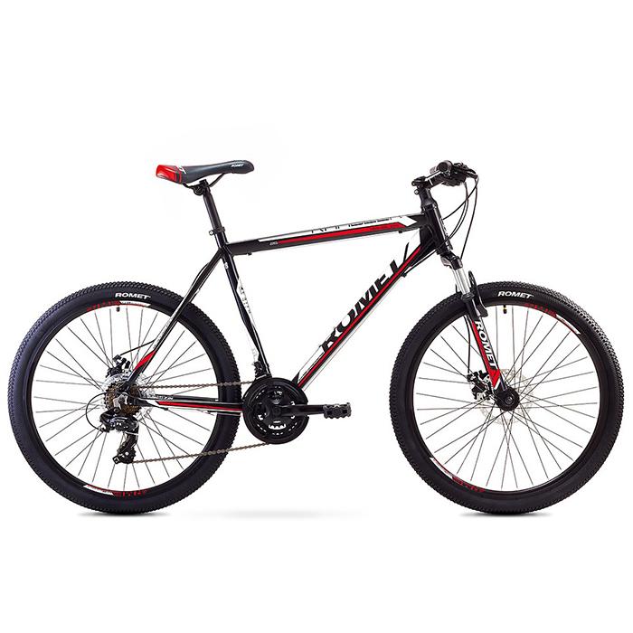 ROMET RAMBLER 26 2 MTB 17-M R26 MELNS/SARKANS kalnu velosipēds MTB