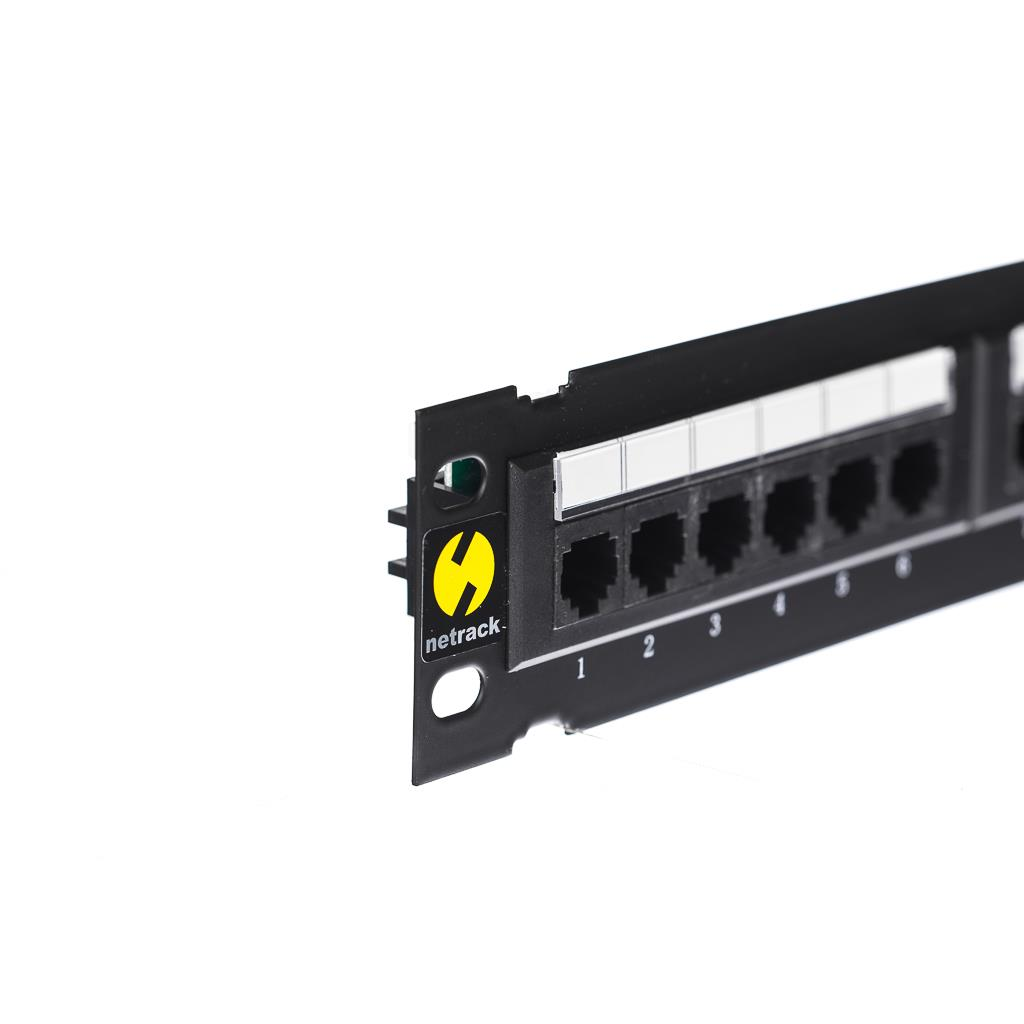 Netrack  wall-mount patchpanel 10'' 12 ports cat. 5e UTP LSA, with bracket Serveru aksesuāri