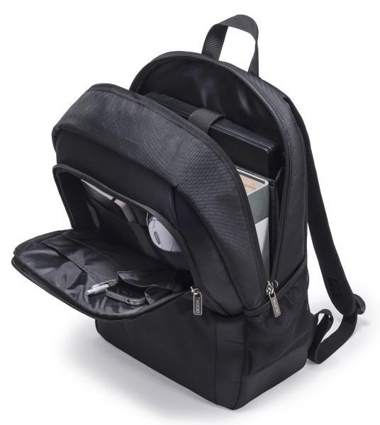 Dicota Backpack BASE 15 - 17.3 Black for notebook portatīvo datoru soma, apvalks