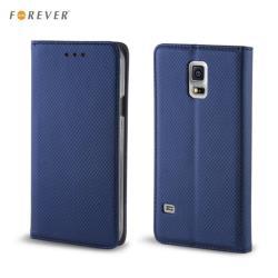 Forever Magnēstikas Fiksācijas Sāniski atverams maks bez klipša Samsung J100H Galaxy J1 Tumši Zils aksesuārs mobilajiem telefoniem