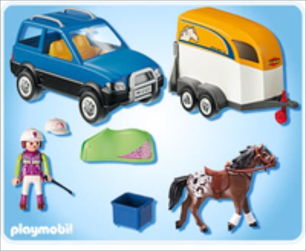 Playmobil 5223 Country Pony Farm Vets SUV bērnu rotaļlieta