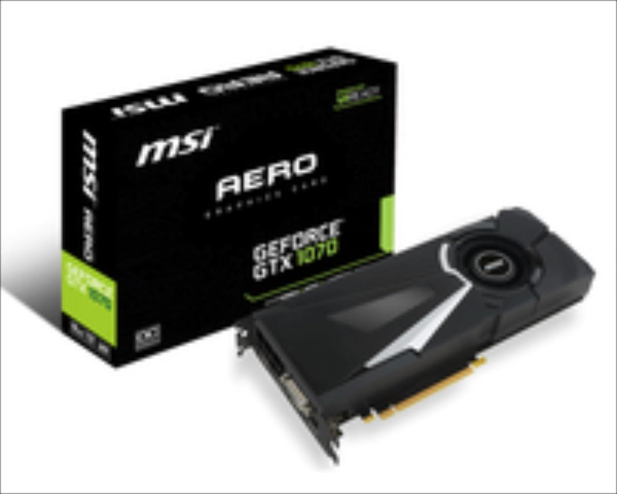 MSI GeForce GTX 1070 Aero 8G OC, 8192 MB GDDR5 video karte