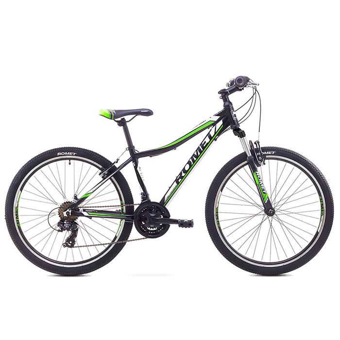 ROMET RAMBLER 26 JR MTB 15-S R26 MELNS-ZAĻŠ kalnu velosipēds MTB