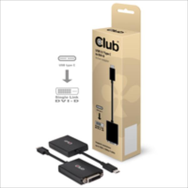 CLUB3D USB 3.1 Type C to DVI-D Active Ad adapteris