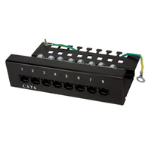 LOGILINK-  Patch Panel CAT6 8-port UTP, black datortīklu aksesuārs