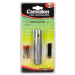 Camelion CT-4010 Aluminium Flashlight 1x 3 Watt LED (silver)/ 110-130 Lumen/ Visible distance: 100m/ kabatas lukturis