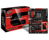 ASRCK AB350 GAMING K4   B350 4DDR4 USB3.0 ATX pamatplate, mātesplate