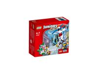 Juniors Poscig helikopterem policyjnym LEGO konstruktors