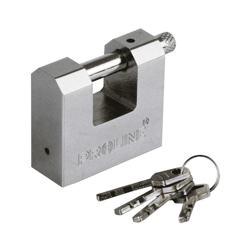 Proline Piekaram slēdzene stieņu 80mm 4 atslēgas