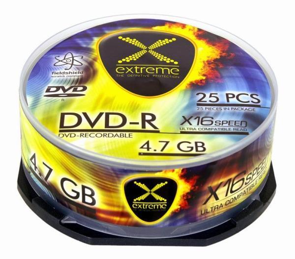 DVD-R Extreme [ cake box 25   4.7GB   16x ] matricas