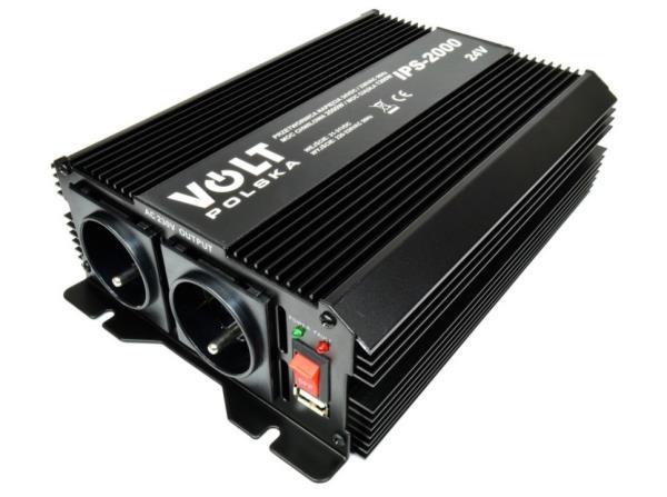 VOLT POLSKA Voltage converter 2000W / 24V Strāvas pārveidotājs, Power Inverter