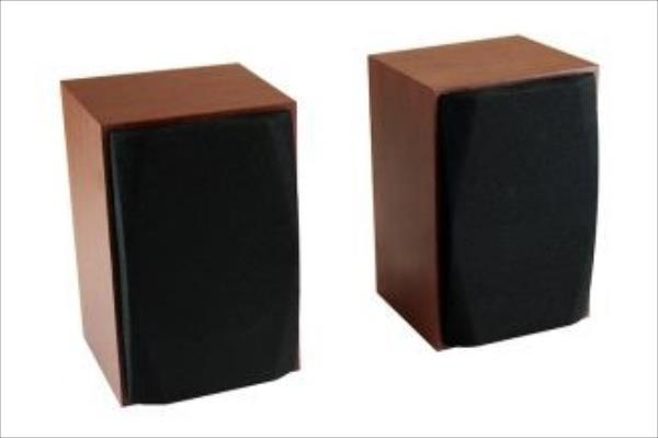 Media-tech WOOD-X - Set of small, stereo speakers, powerd by USB port, RMS 10W datoru skaļruņi