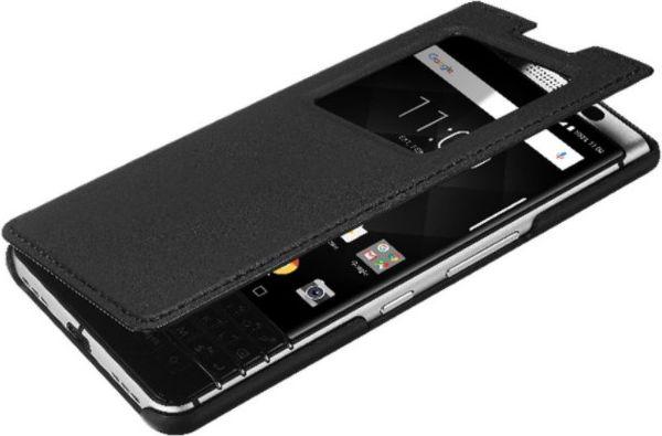 Blackberry Leder Smart Flip Case for Blackberry KEYone black maciņš, apvalks mobilajam telefonam