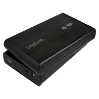 """3.5"""" SATA  drive case, USB 3.0  black, aluminium cietā diska korpuss"""
