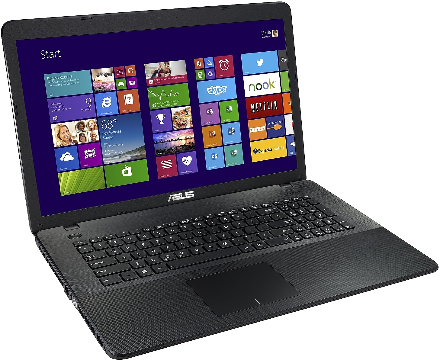 ASUS X751LDV-TY133H Black Portatīvais dators
