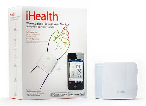 iHealth Wireless Blood Pressure Wrist Monitor for iOS and Android asinsspiediena mērītājs