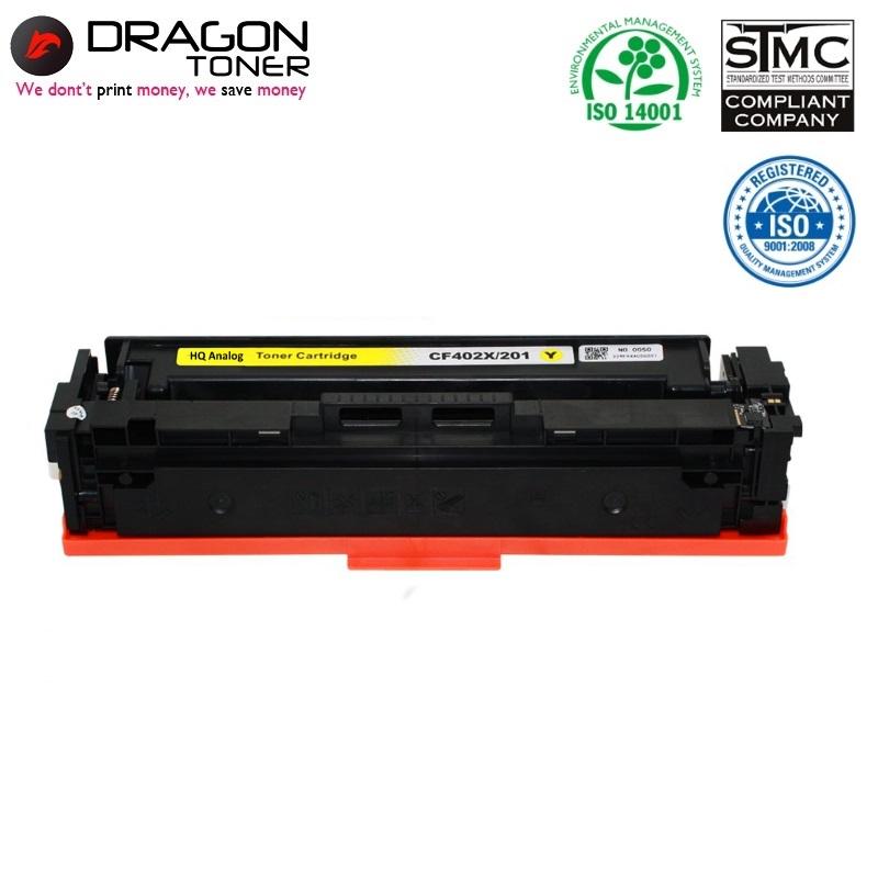 Dragon HP 201X CF402X Dzeltena Lāzerdrukas kasete priekš M252dw 2.3K Lapas HQ Premium Analogs aksesuārs mobilajiem telefoniem
