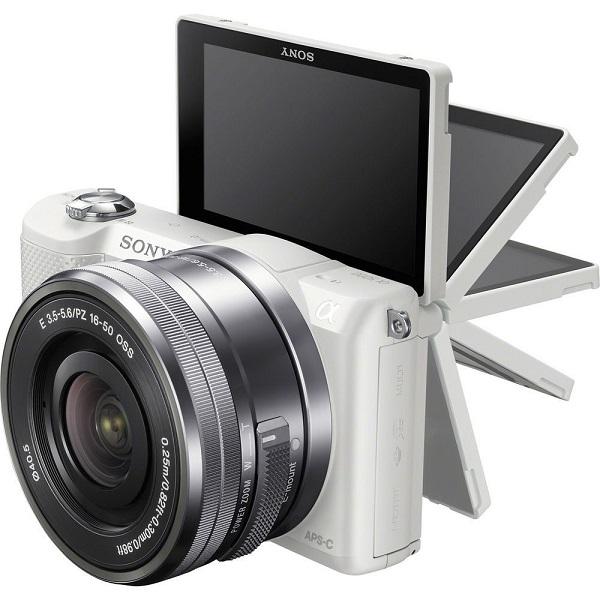 Sony A5000 20.1Mpix 16-50 White Spoguļkamera SLR