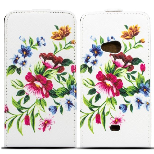 Forcell Slim Flip Pattern iPhone 4 4S aksesuārs mobilajiem telefoniem