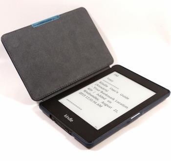 """C-TECH PROTECT """"hardcover"""" Case for Kindle PAPERWHITE with WAKE/SLEEP, blue"" Elektroniskais grāmatu lasītājs"